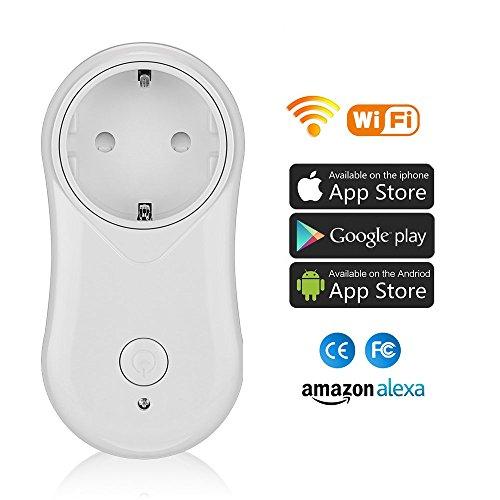 Intelligente Steckdose Smart WLAN Steckdose, spracherkennbar für Echo, Echo Dot, APP-Steuerung (Smart Life) von überall und jederzeit