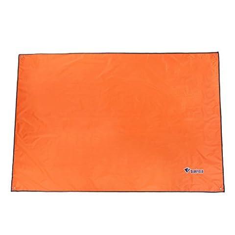 OUTAD Tapis de Sol / Bâche de Tente Étanche Pour Camping Randonnée ou Pique-nique (150 / 180 / 240 × 220 CM) (Orange, 240 × 220)