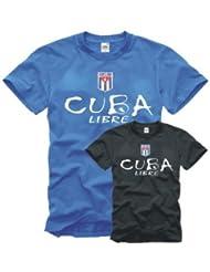 Cuba Libre T-Shirt mit gesticktem Wappen Gr. S-XXL