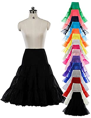 "Remedios 50s Vintage Rockabilly Petticoat Tutu 26"" Retro Fancy Underskirt S-XL"