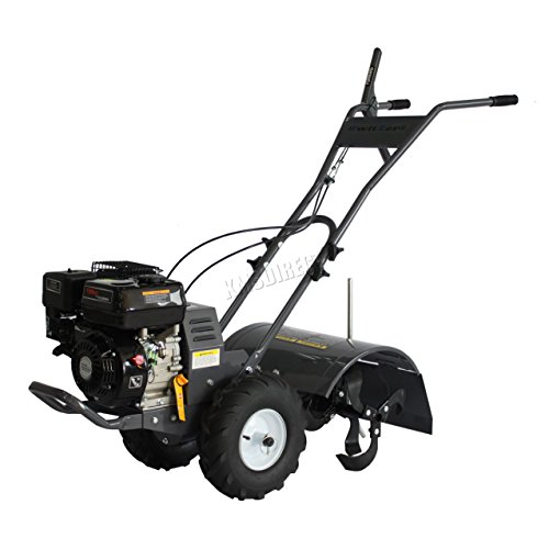 SwitZer Heavy Duty 6.5 HP Portable Petrol Garden Cultivator Rotovator Tiller with 3 Gears up to 400mm Width
