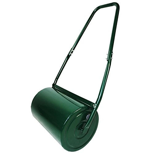 oypla-galvanised-garden-steel-lawn-roller-30-litre-drum-scraper-bar-collapsible-handle-create-a-lawn