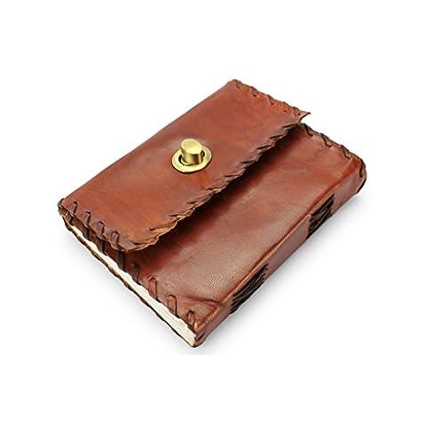 A.P. Donovan - Notiz-Buch Leder - Block für Skizzen, leeres Buch Uni, Schule - Organizer - Reise-Tagebuch Leder - DIN A6