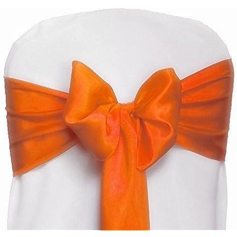 V-Dragon, confezione da 50 pezzi, per sedia con decorazioni da matrimonio Party Sashes Arancione