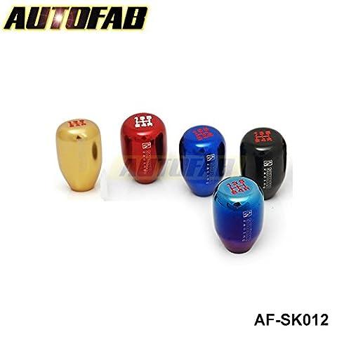 SkyRam (TM) AutoFab -Schwarz M12 * 1.25 Racing Car JDM Handbuch Aluminium Sk-2 Schaltknauf Shift-Schaltknauf f¨¹r Scion Subaru AF-SK012BK (M12 * 1.25)