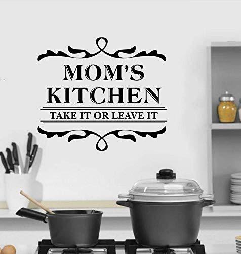 Qthxqa Mamas Küche Wandaufkleber Familie Dekoration Küche Design Vinyl Wandtattoo Nehmen Sie Oder Lassen Sie Es Zeichen Wandkunst Wandbild 57 * 50 Cm (Halloween-zeichen Sie Eine Nehmen)