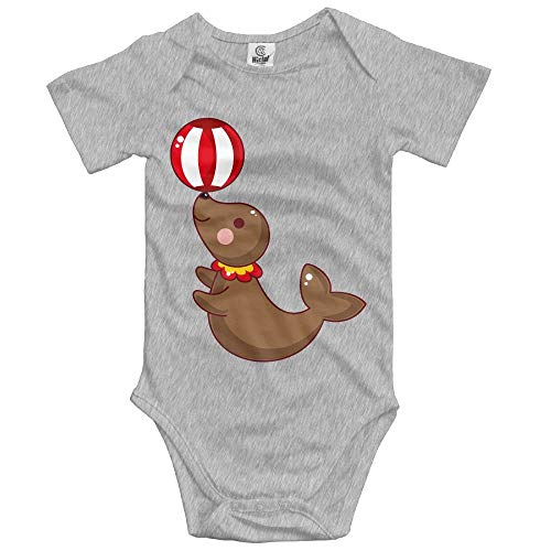 Sea Lion Kostüm - TKMSH Unisex Baby's Climbing Clothes Set Sea Lions Bodysuits Romper Short Sleeved Light Onesies for 0-24 Months