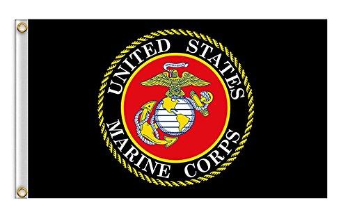 Hemore Fahnen Flaggen 90 * 150cm Marine Corps USMC Banner WM 2018 Staatsflagge/Landesflagge/Hissflagge -