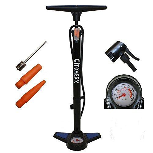 CMX Fahrrad Hochdruck Luftpumpe 12Bar Standpumpe mit Manometer für alle Ventile
