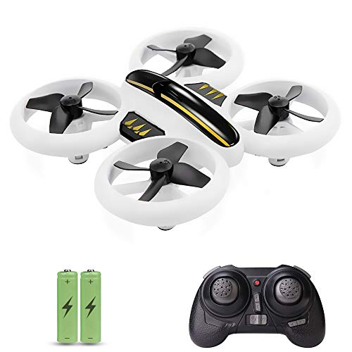 GEEKERA Mini Drone, Remote Control RC Quadcopter Boys Toys for Kids Children and Beginners Gift Full Protect Easy Flying Helicopter with Red Yellow Lights