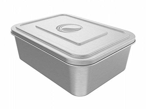 ECOtanka 2,0l lunchBox Dose mit Deckel | Ideal für Kinder, Ausflüge, Büro, Schule und Outdoor Camping | Brotdose Bento Box | aus hochwertigem, rostfreien Edelstahl (304) | ökologisch, nachhaltig - BPA frei – robust und langlebig – Edelstahldose | Umweltfreundlich Speisen mitnehmen