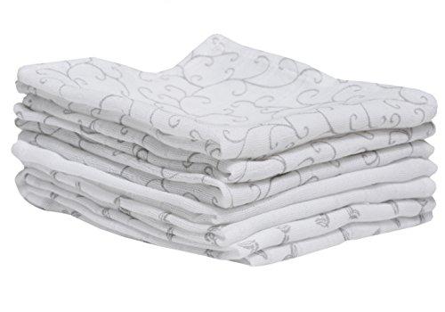 Salviette per neonati in di cotone-mussola, washcloths bambino - (7 pcs), 30 x 30 cm, eco-Tex Standard 100