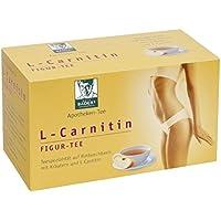 BADERs L-Carnitin Figur Tee aus der Apotheke. Zur Diät und beim Fasten. Rotbuschtee mit Kräutern und L-Carnitin. 20 Beutel, 40g. Vegan. Glutenfrei. Pharmazentralnummer 04197324