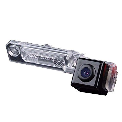 Navinio 420TVL CMOS Caméra de Recul Voiture en Couleur Kit Caméra vue arrière de voiture Imperméable IP67 avec large Vision Nocturne ,Haute-résolution et Haute-définition HD pour VW Caddy Passat B5 B6 Transporter T5 Touran Jetta automobile