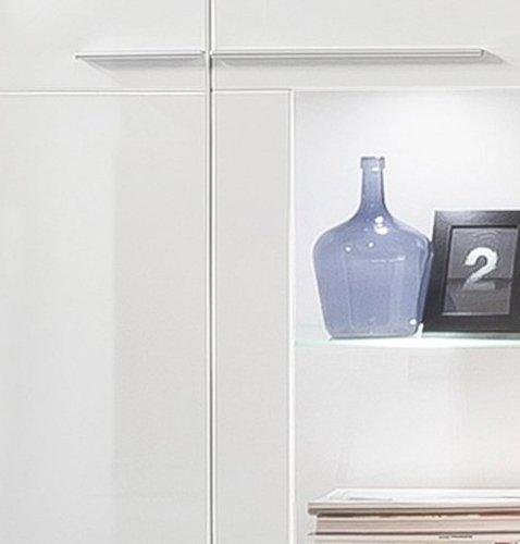 trendteam VIS03801 Vitrine Wohnzimmerschrank Weiß Hochglanz, BxHxT 80 x 135 x 35 cm - 5
