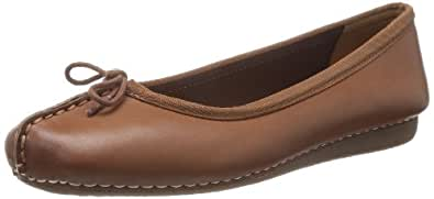 Clarks Women's Freckle Ice Leather Ballet Flats