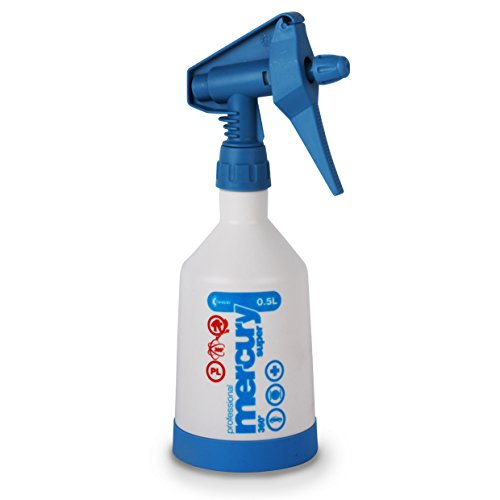 Dual Action Solvent Resistant Calibrated Trigger Sprayer Bottle - Blue 500ml - Ideal For Dispensing Chemicals. Cleaning Accessories Powered by TheChemicalHut.