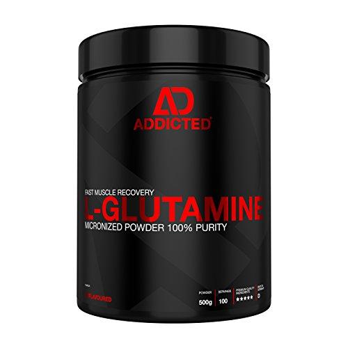 L-GLUTAMINE von ADDICTED® • 100% L-Glutamin Pulver hochdosiert | Geschmacksneutral | Unflavoured • Aminosäure für Muskelerhalt und schnellere Regeneration • Für Kraftsport und Bodybuilding