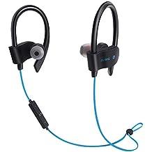 Sencillo Vida Auriculares Bluetooth Deportivos, Auriculares Bluetooth 4.1 In-ear Cascos Inalámbricos , Auricular Inalámbrico Running Deporte Correr con ...