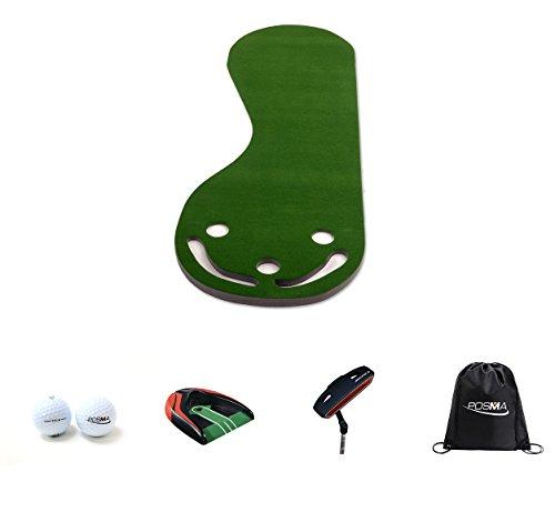 Posma Pg190d Grassroots par trois Putting Green de golf Putting Slope Tapis Bundle Cadeau avec...