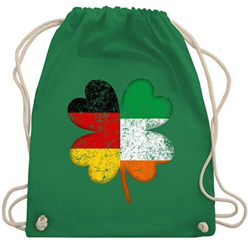 St. Patricks Day - Deutschland Irland Kleeblatt - Unisize - Grün - WM110 - Turnbeutel & Gym ()