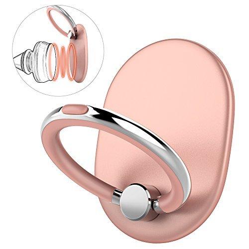 Telefon Handy Ring Halterung Handys Zubehör Ständer 360°drehbar Kickstand Finger Griff Halter für Tablets Smartphones(Rose Gold)