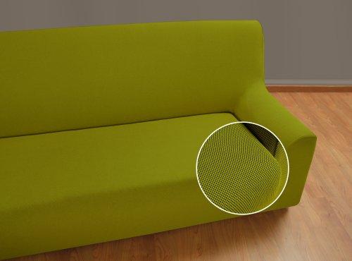 VELFONT – Bielastischer Sofabezug Universal - 3-Sitzer - Grün - verfügbar in verschiedenen Größen und Farben
