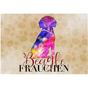 Cadouri Frühstücksbrettchen BEAGLE FRAUCHEN Glasschneidebrett Schneidebrettchen – 28,5 x 20 x 0,4 cm