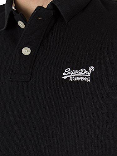 Superdry Herren Poloshirt Classic Pique S/S Polo Schwarz