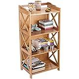 Urbancart® Bamboo Book Shelf, Plant and Flowers Shelf Organizer for Living Room Home & Office (Design 2-4 Tier)