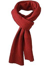 Myrtle Beach bufanda de punto bufanda Basic Rojo Dark-Red Talla:talla única