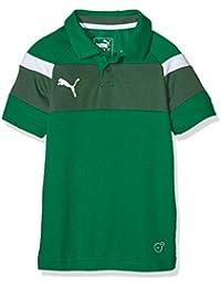 PUMA camiseta infantil Spirit II Polo, potencia Green - White, 152, 654660 05