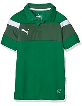 PUMA camiseta infantil Spirit II Polo, potencia Green - White, 164, 654660 05