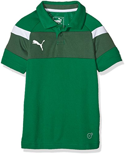 PUMA Kinder Polo Spirit II, power green-white, 152, 654660 05 (Trocken-power Polo)