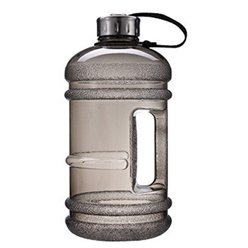 Zantec 2.2L Große Kapazität Griff Tragbare Wasserflaschen mit Edelstahl Abdeckung für Outdoor Sports Gym Fitness Training Camping Laufen