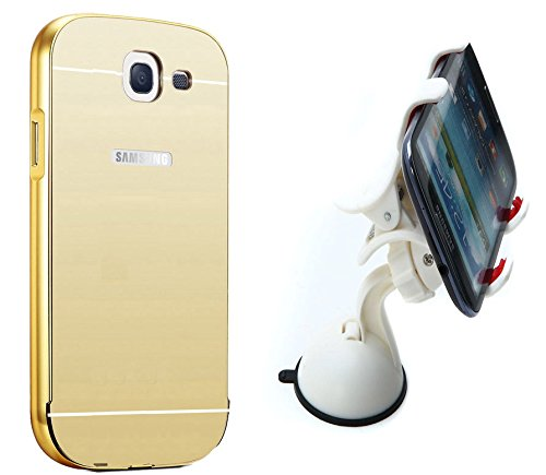 Novo Style Luxury Mirror Effect Acrylic back + Metal Bumper Cover for Samsung Galaxy Note 2 7100  Golden + Car Mount Cradle Holder Windshield Mobile / Gps Suction Holder Stand - Clip Type  available at amazon for Rs.399