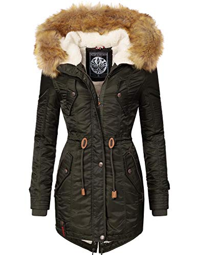 Navahoo Damen Winter Mantel Winterparka La Viva Green Gr. M