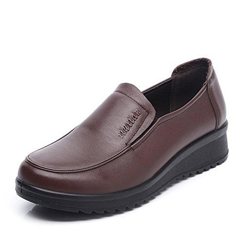 donna più scarpe vecchie dimensioni/Scarpe di mamma/Scarpe antiscivolo morbida degli anziani-B Lunghezza piede=21.8CM(8.6Inch)