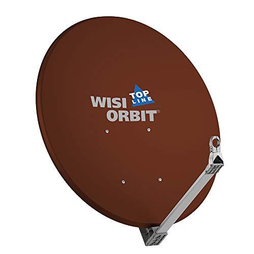 WISI Orbit Topline Satelliten Offset-Antenne OA100I in Rotbraun – 100cm Reflektor aus Aluminium mit 40mm LNB-Halterung, Feedarm und Mastschellen – Komplette Sat Antenne mit Montagezubehör