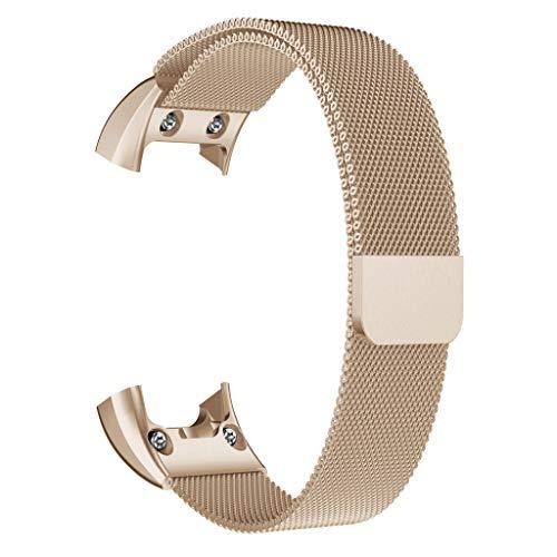 agnetisch Schleife Edelstahl Watch Band Gurt Für Garmin VIVOsmart HR (Gold) ()