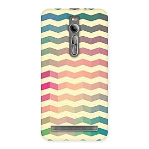 Cute Seamless ZigZag Multicolor Back Case Cover for Asus Zenfone 2