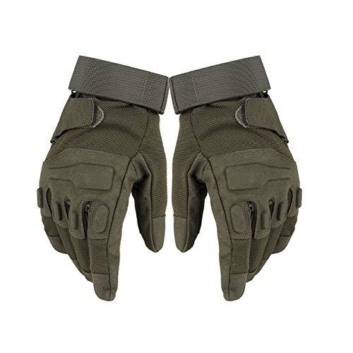 AMXLJNY Sport Handschuhe Tactical Army Combat Training Vollfinger Männer Militärpolizei Soldat Paintball Outdoor Handschuhe Sport Fahrrad Handschuhe 22,4 cm Grün (Combat Sports Handschuhe)