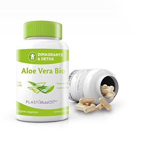 ALOE VERA EXTRA FORTE : DIMAGRISCI FIANCHI E GAMBE con aloe veraPlastimea ! Elimina i grassi e drena le gambe e il ventre per essere in piena forma: 30 CAPSULE DI 2000 mg di PURA ALOE VERA BIOLOGICA !! Potente disintossicante * FABBRICATO IN FRANCIA * 30 capsule 100% naturali, senza glutine e vegane!