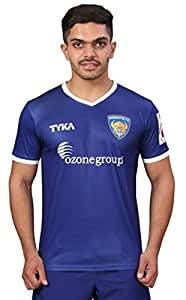 TYKA Chennaiyin FC Official Home Jersey, Men's XXX-Large (Dark Blue)