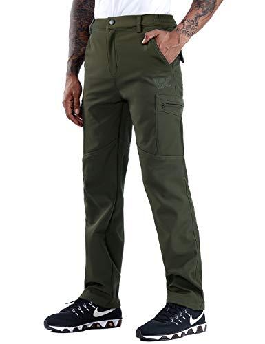 ZOEREA Pantalones Senderismo Hombre Invierno Grueso