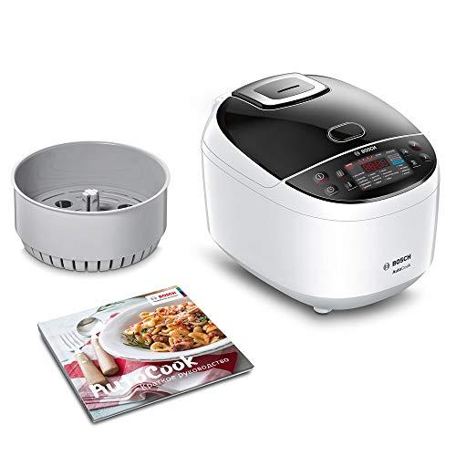 Bosch AutoCook MUC11W12 - Robot de Cocina Multifunción, Acero Inoxidable, Bol de 5 L, 940 W