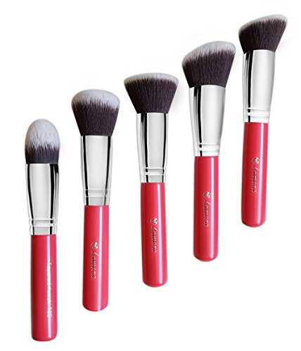 Kabuki Brush Set - For Face and Eye Make Up - Professional Quality Synthetic Bristles For Powder, Blush, Concealer - Perfect For Liquid, Cream or Mineral Products