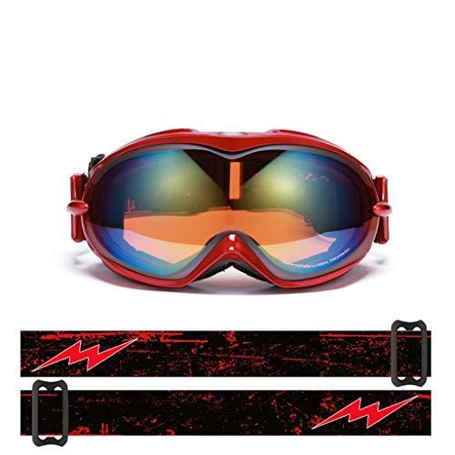 Skibrille Anti-Fog Skibrille Ski Bergsteigen Brille Schnee Spiegel (Farbe : D)