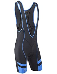 Tenn-Outdoors Men's Bib Front with Moulded Pad Cycling Shorts