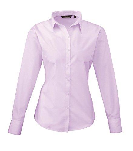 Premier donna manica lunga popeline camicia Lilac